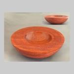 Large Bubinga textured bowl