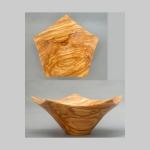 Olive pentagonal bowl