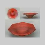 Pau Rojo hepatagonal bowl