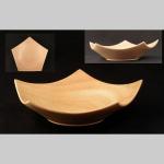 Pentagon bowl in Sycamore