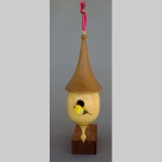 Birdhouse Christmas tree ornament