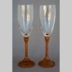 Bubinga and glass goblets