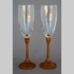 Bubinga and glass goblets
