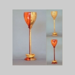 Pau Rojo wedding goblet with captured gold rings